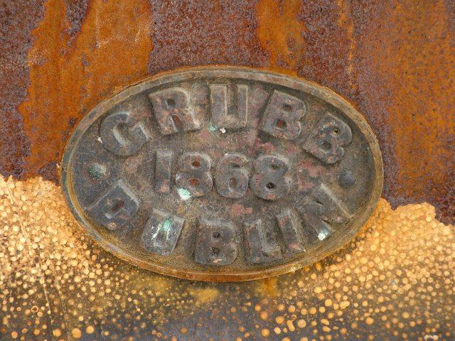 Metal builder's plate