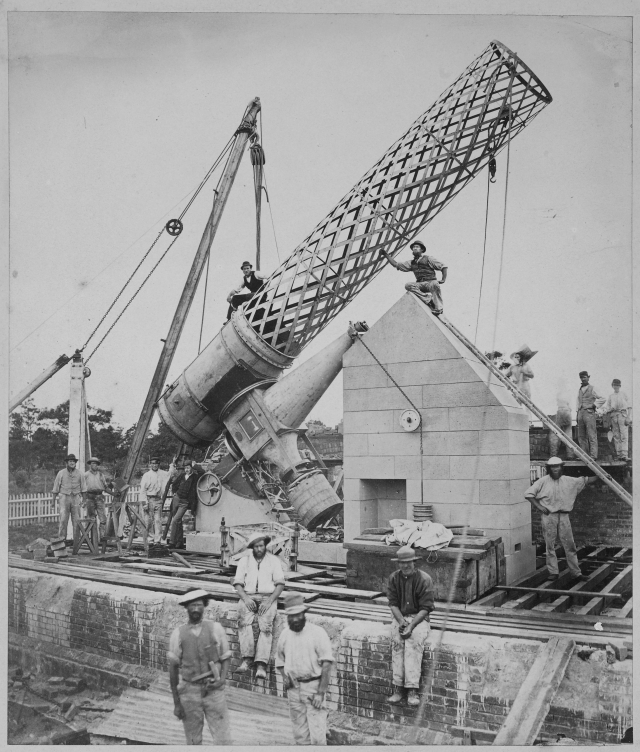 Telescope under construction