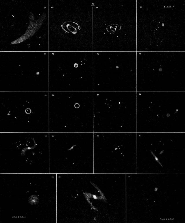 Drawings of nebulae