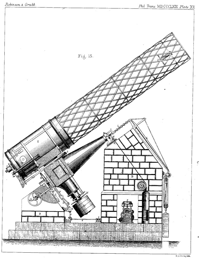 Drawing of a telescope